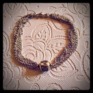 Pandora multi strand bracelet with clip